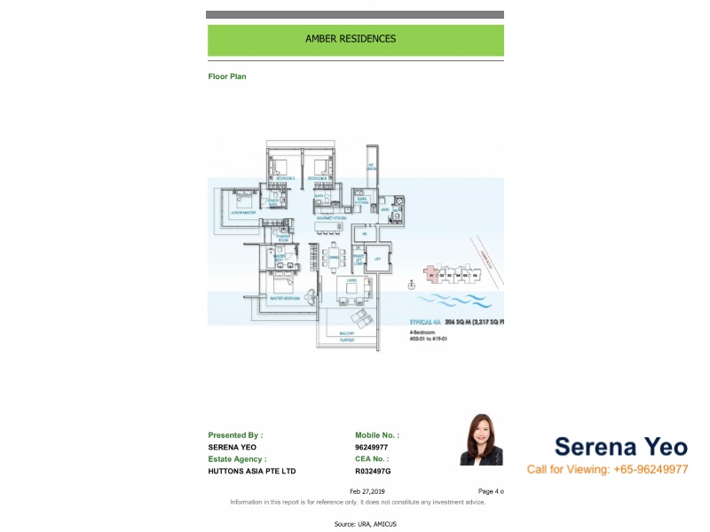 Amber Residences The Residential Property For Sale At D15 Singapore