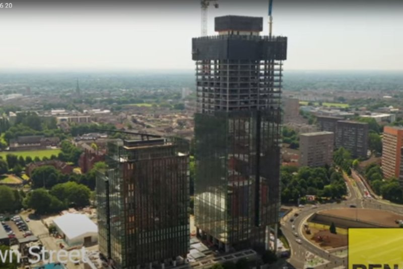 Crown Street Manchester - Elizabeth Tower and Victoria Residence Progress Update July 2020